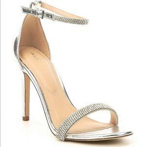 Aldo rhinestone silver heels